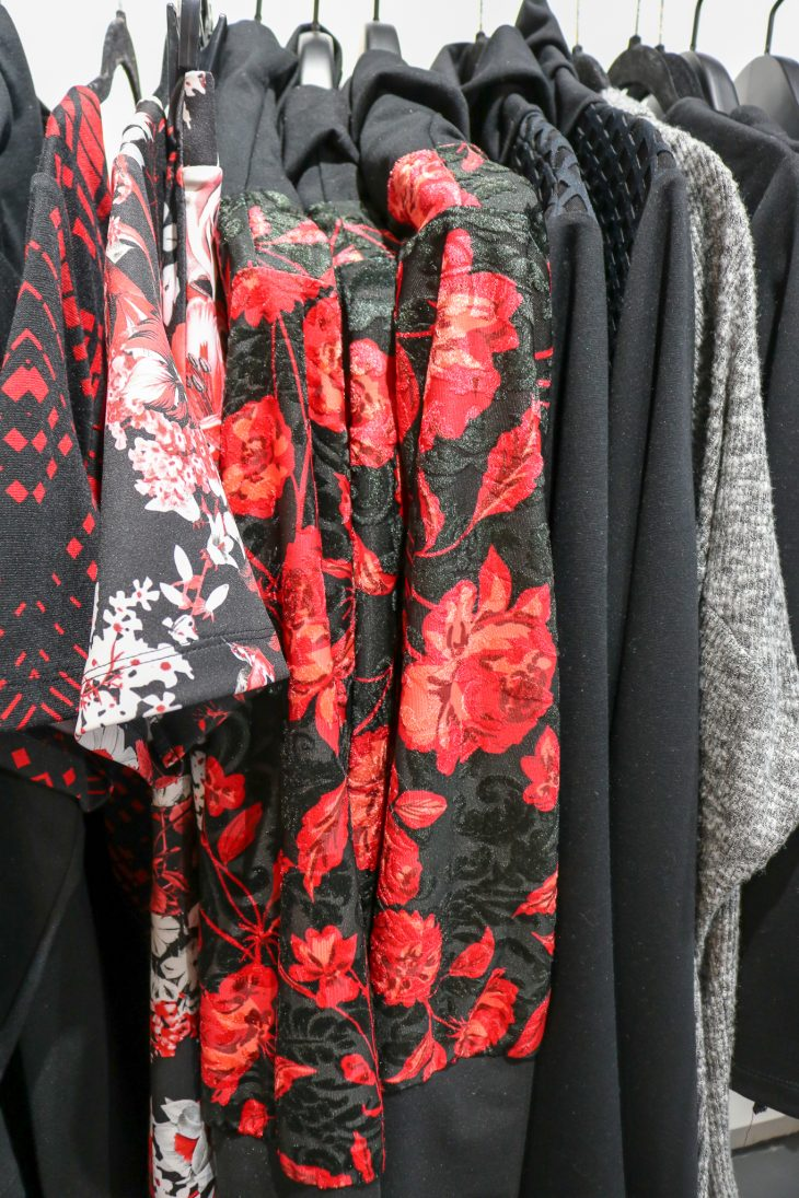 Red and Black Floral Outfits