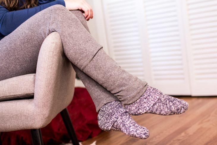 Cozy socks and fleece pans