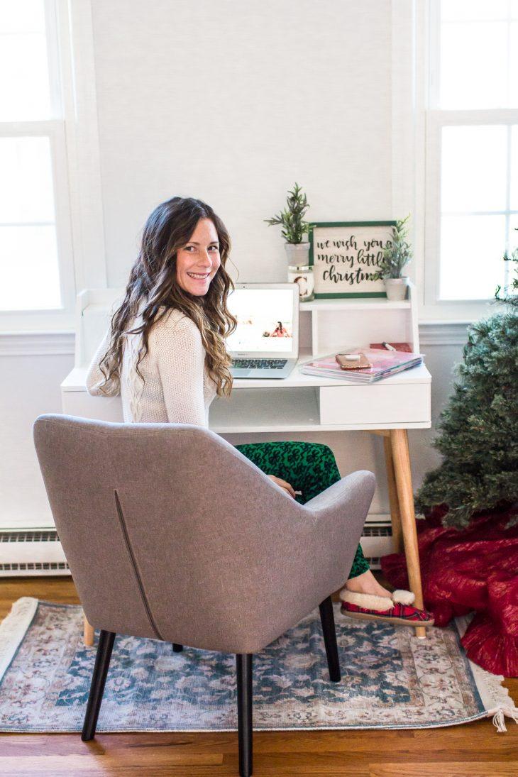 Christmas Themed Desk