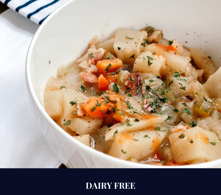 Dairy Free Loaded Baked Potato Soup in the Crockpot