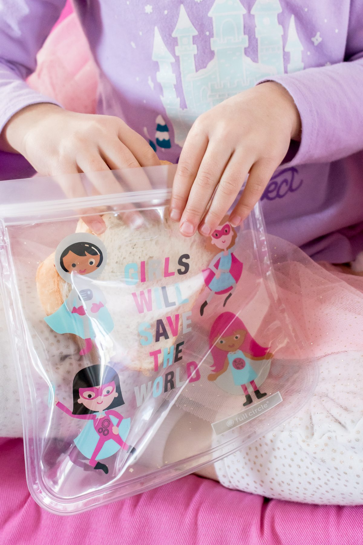 Girl Power Colorful Reusable Snack Bag from Full Circle