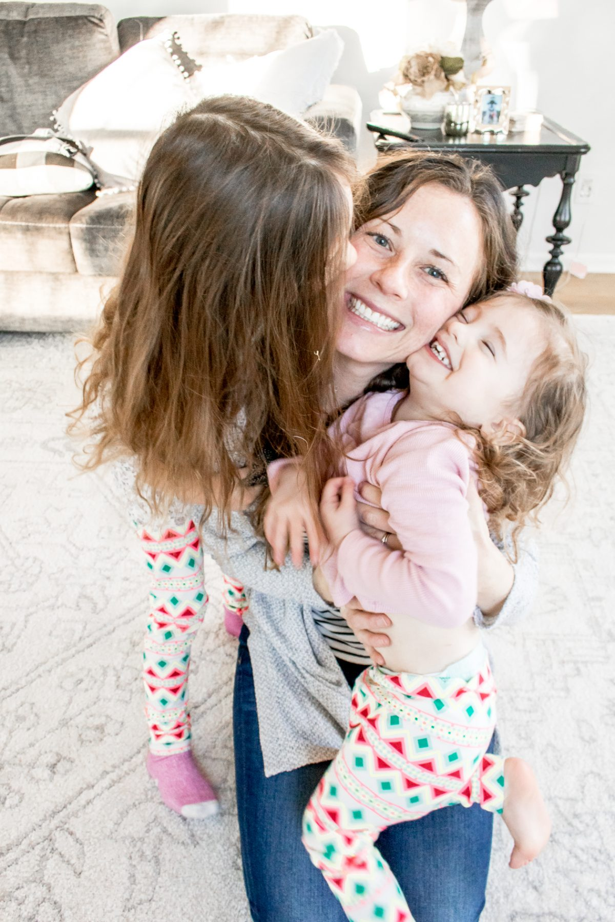 Mother and Daughters hugging Together - When Accidents Happen - Dealing with a Mother's Guilt