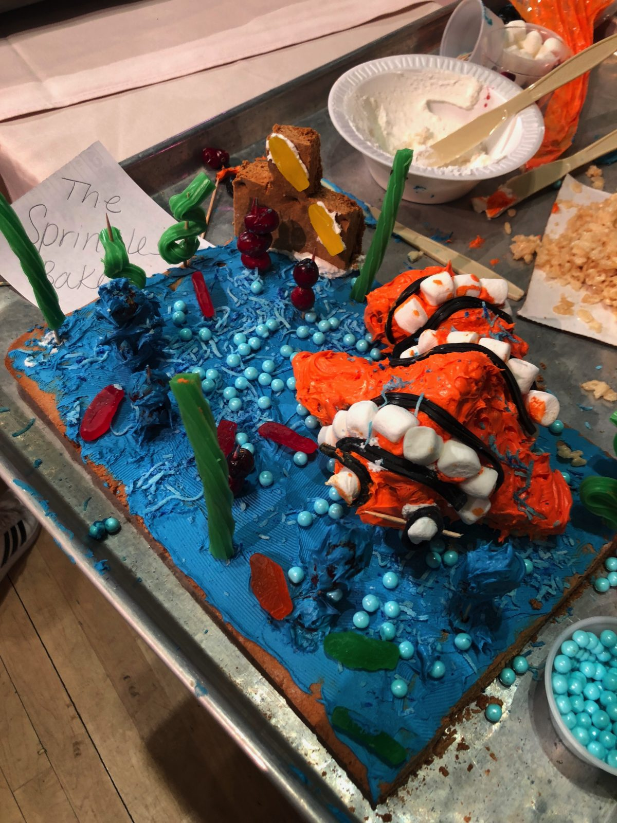 """Finding Nemo"" Gingerbread Creation - Our Entry in the Gingerbread Wars Contest at Woodloch Pines"
