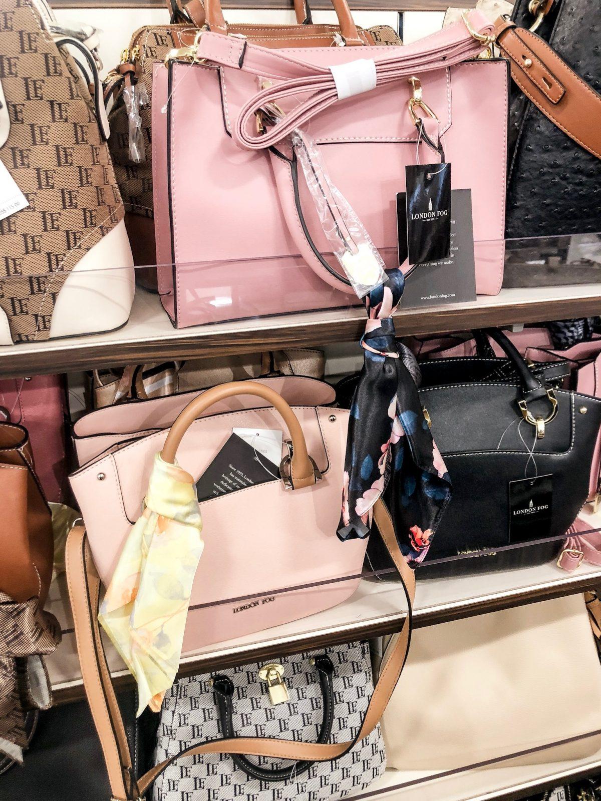 London Fog Handbags in various colors