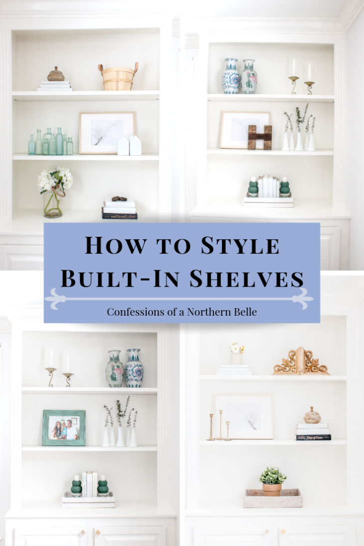how to style built in shelves