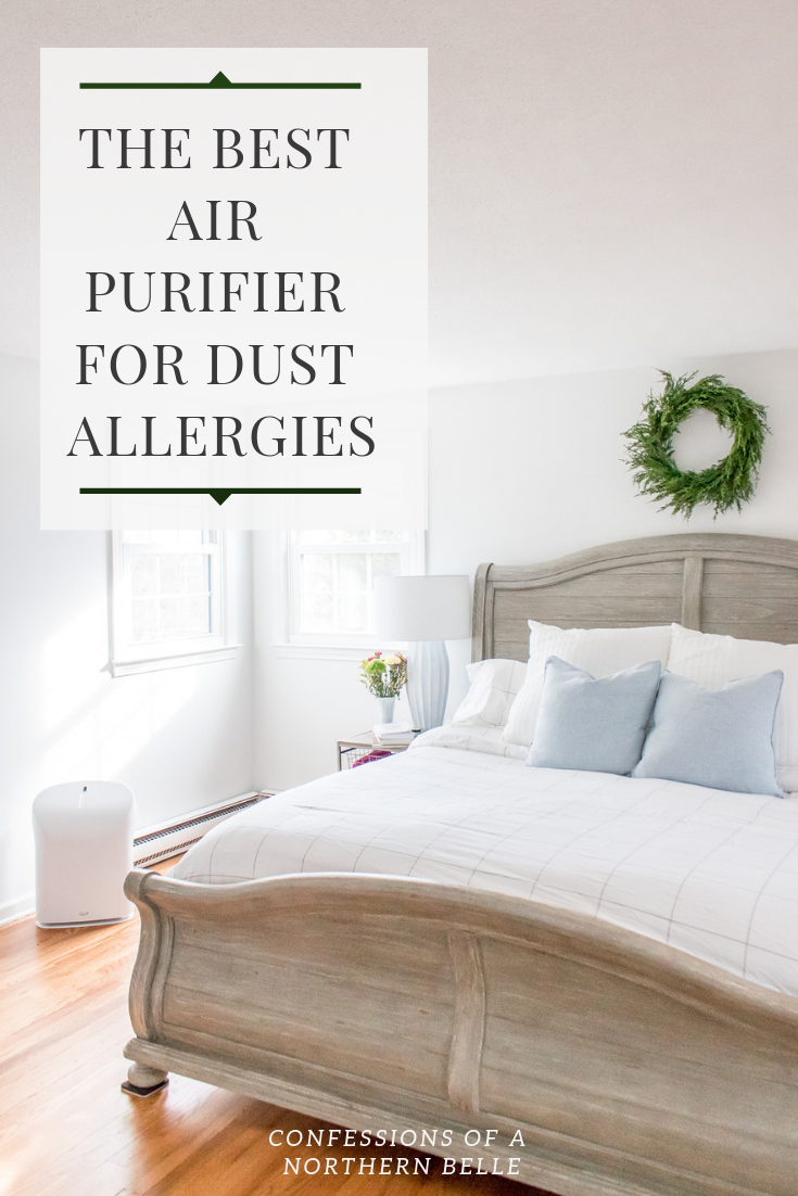 White Bedroom with Air Purifier in Corner