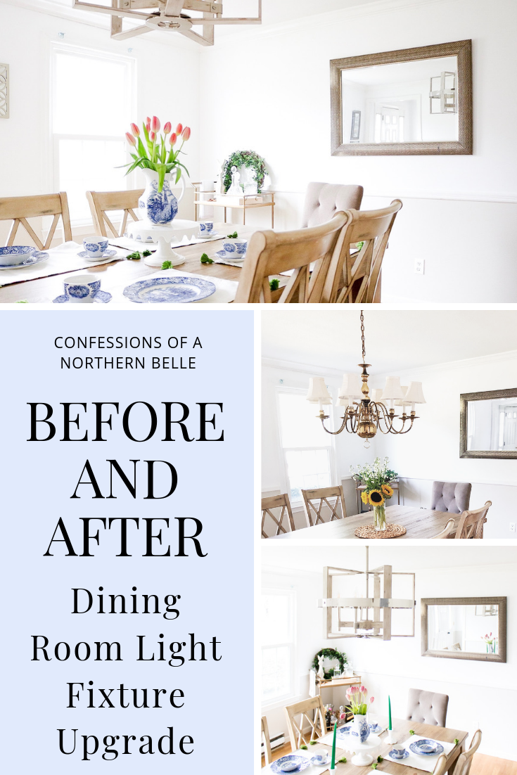 dining room light fixture upgrade