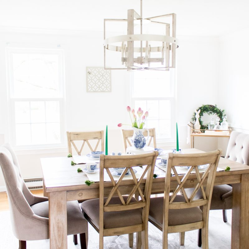 Before and After: Dining Room and Hallway Light Fixture Upgrade