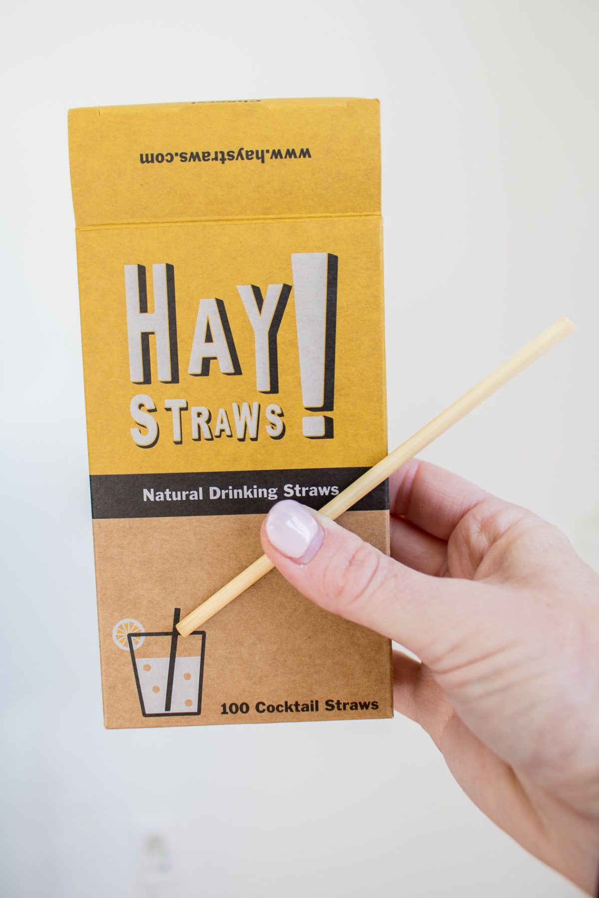 Hay drinking or cocktail straws from Cinder + Salt