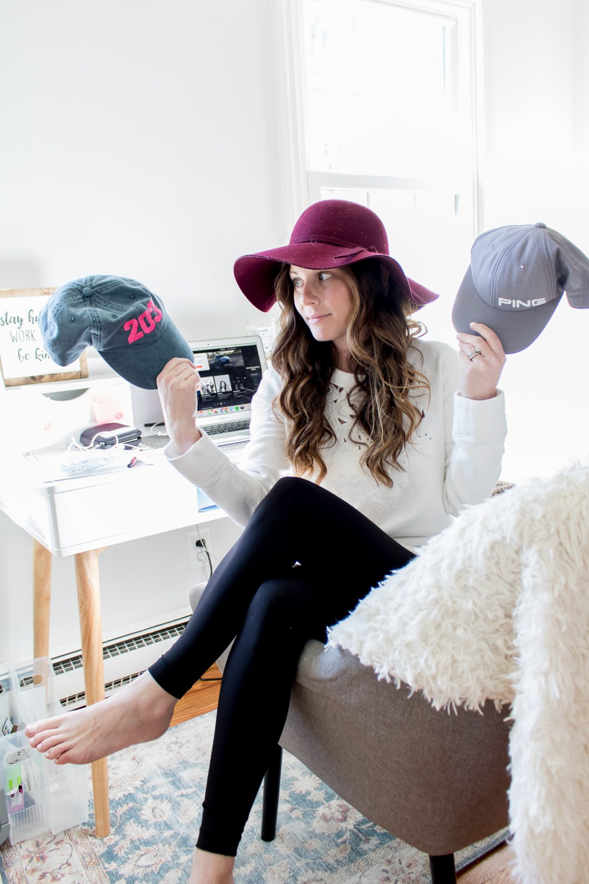 Womens Floppy Hat with Womens Baseball Hats