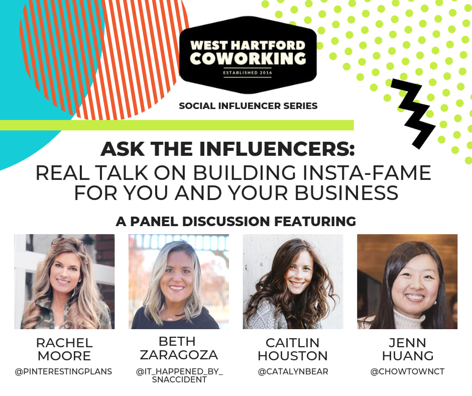 "West Hartford Coworking ""Ask The Influencers"" Panel Guest Caitlin Houston"