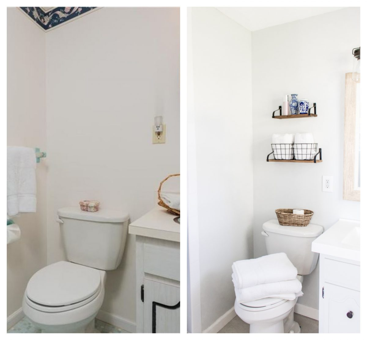 Small Bathroom Before and After Fresh Paint - 5 Ways to Update an Old House