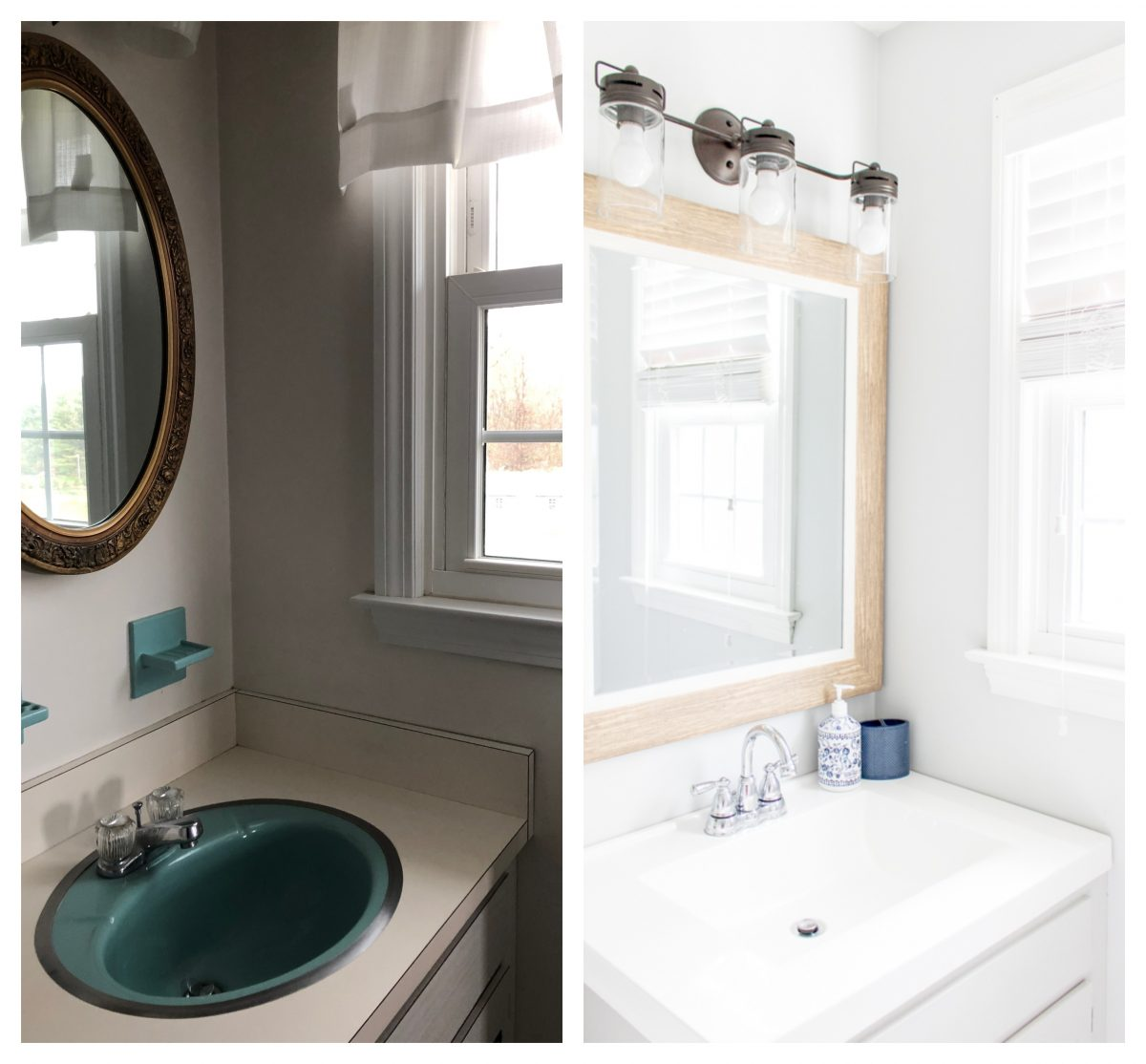 Bathroom Light Fixture Upgrade - 5 Ways to Update an Old House