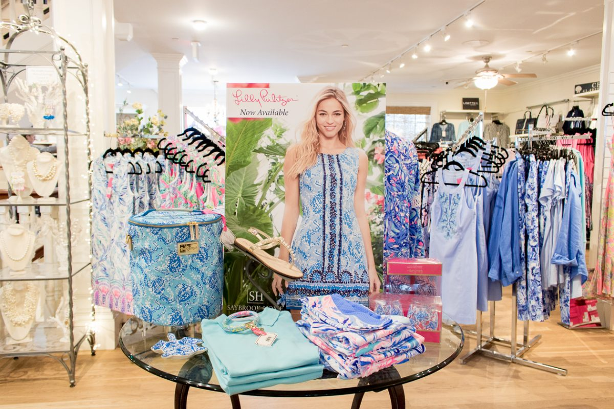 Lilly Pulitzer Display at Saybrook Home
