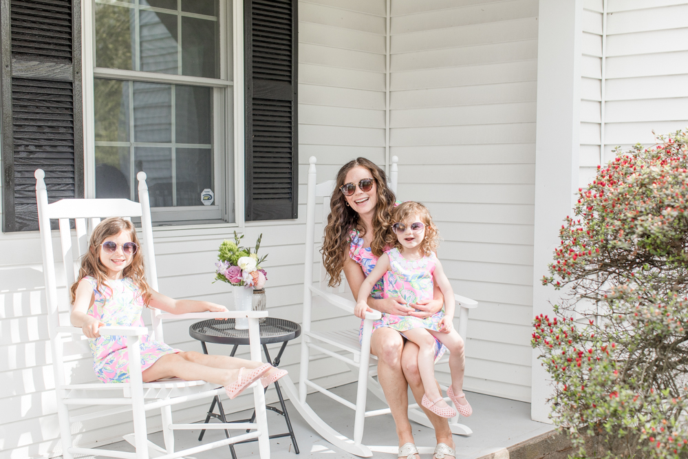 Mommy and Me Lilly Pulitzer Photo Shoot - Outfits from Saybrook Home