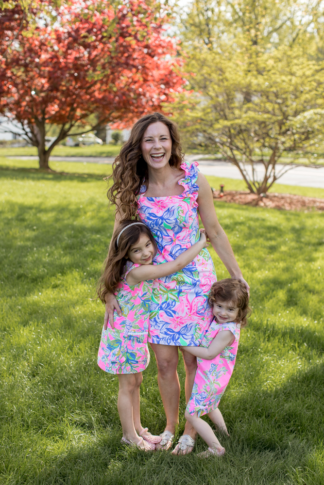 Mommy and Me Lilly Pulitzer Dresses Photo Shoot from Saybrook Home