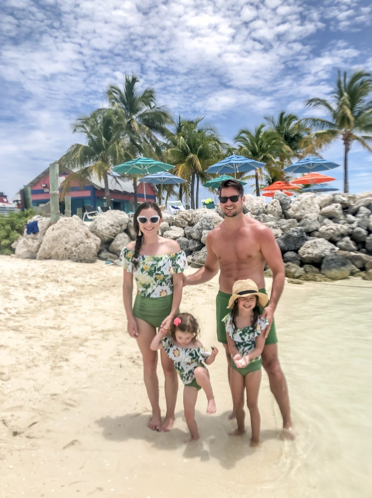 Matching family swimsuits Kortni Jeane