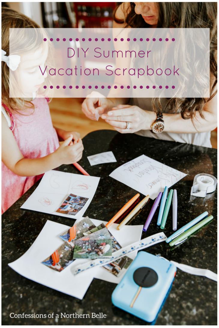DIY Summer Scrapbook