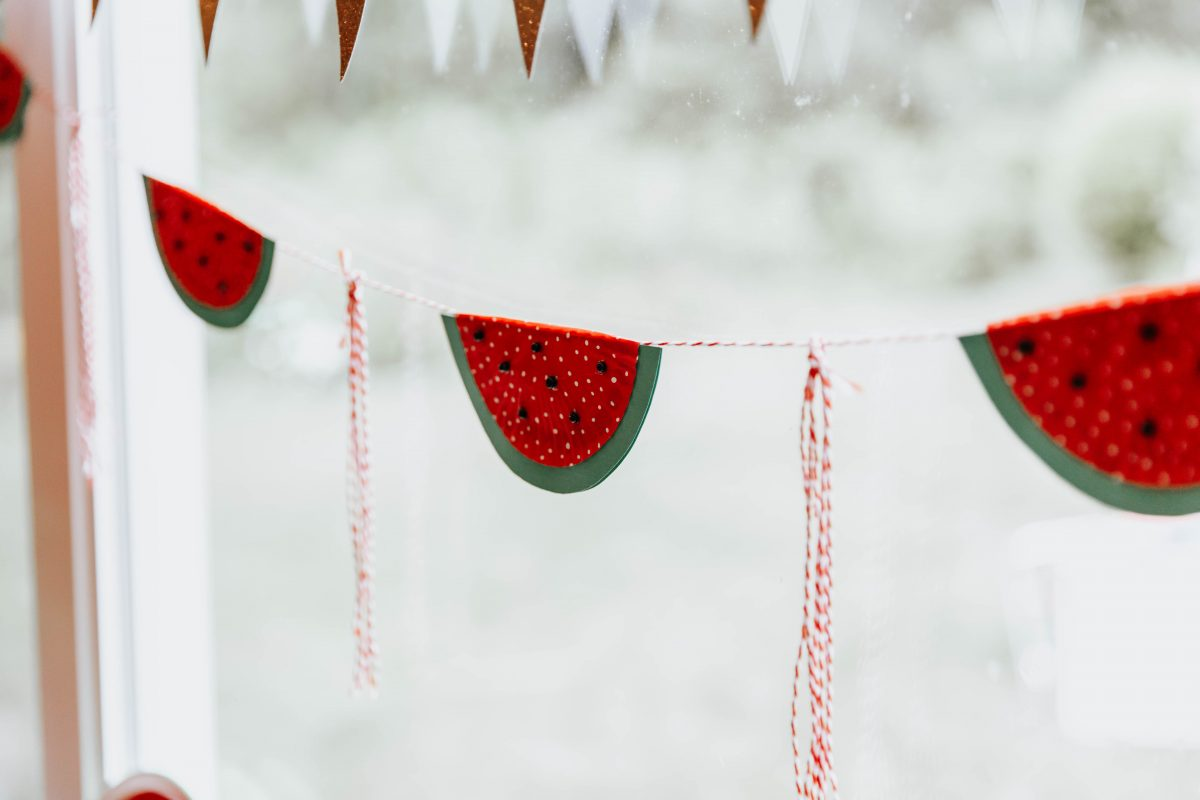 Watermelon Party Decor - Watermelon Banner