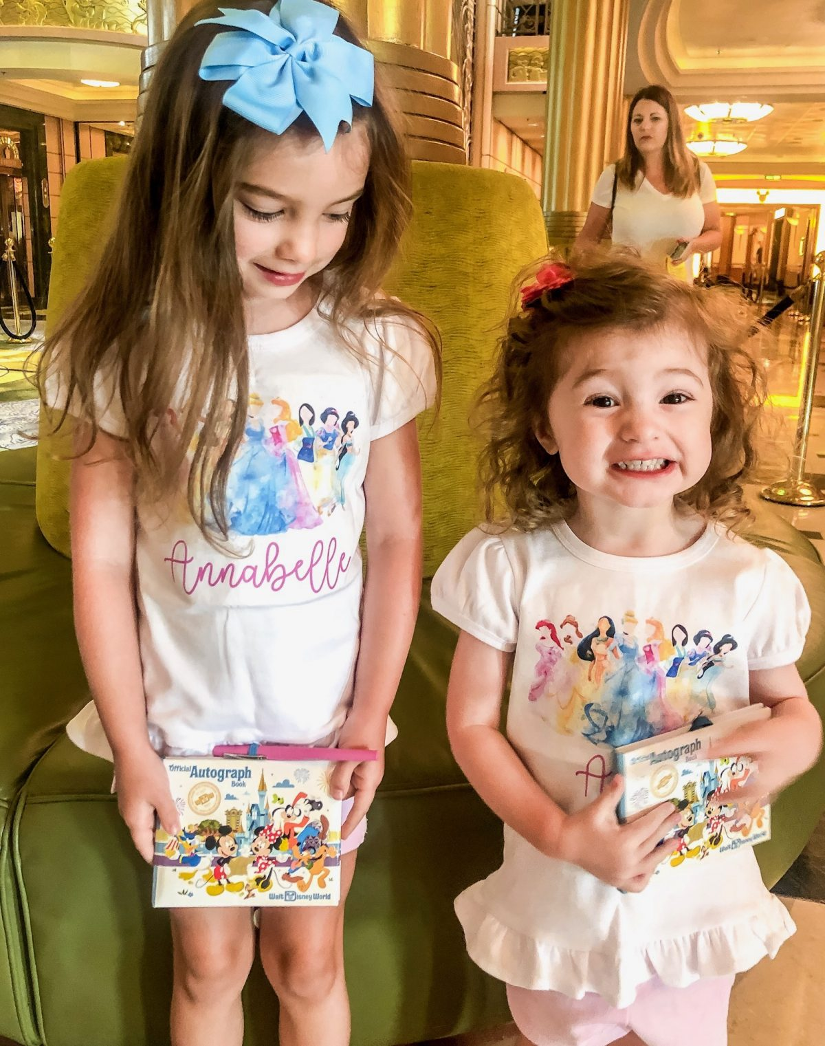 Personalized Princess Shirts on Girls for Disney Cruise
