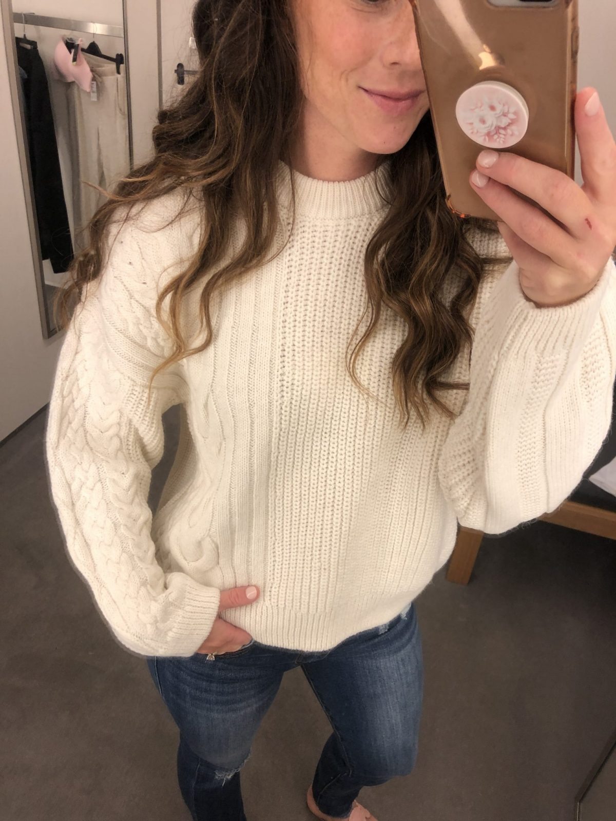 Cable Knit Top Shop Sweater