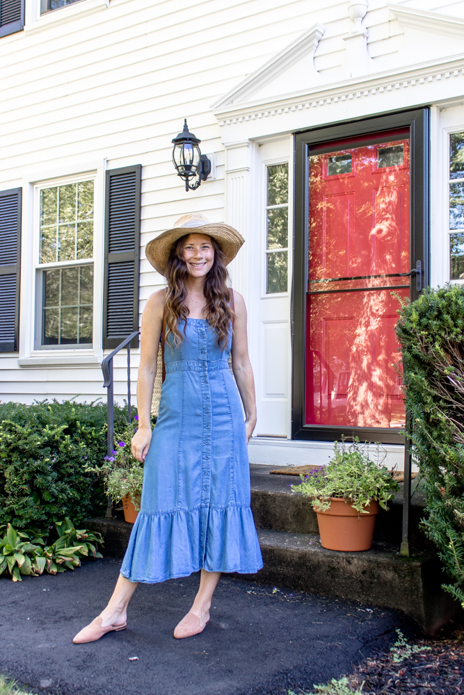 BB Dakota Chambray Dress - RTR Unlimited Code and Review - CaitlinHoustonBlog
