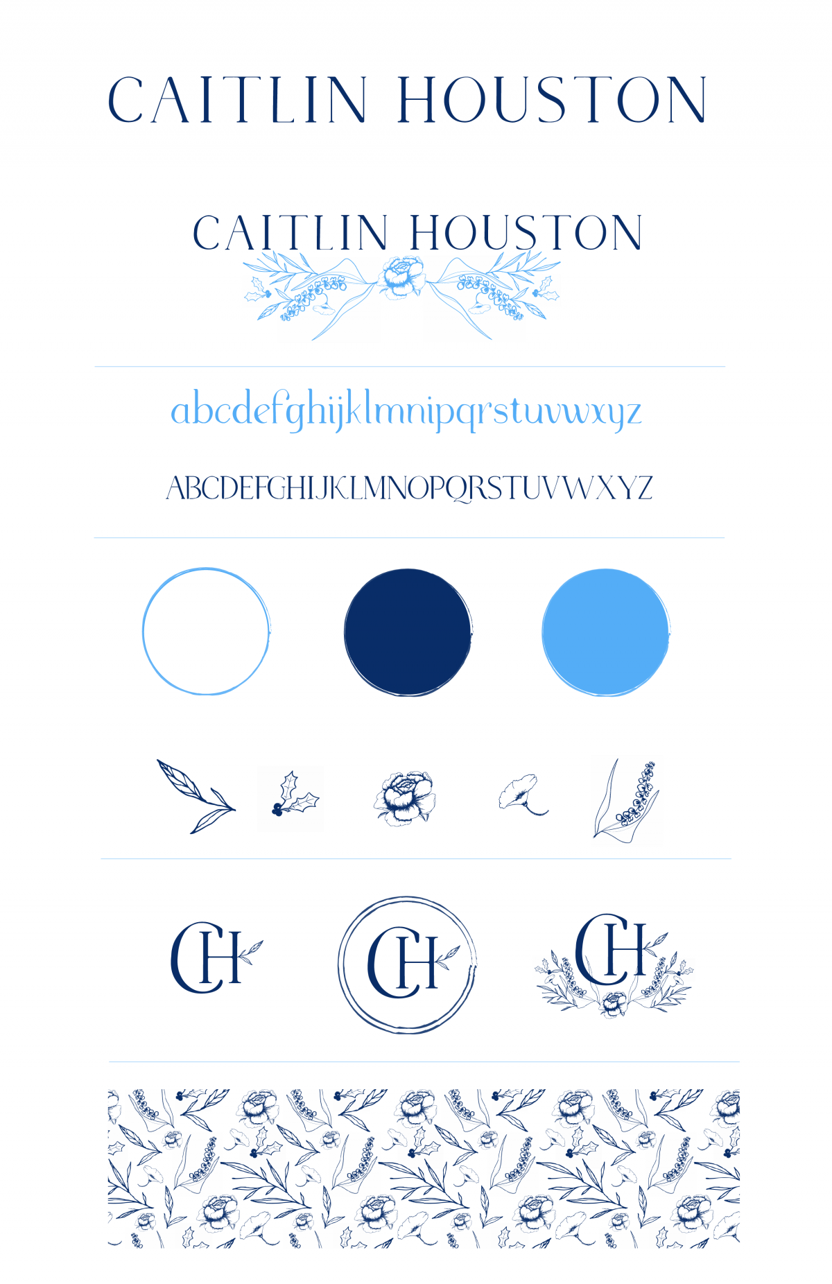 Why I Rebranded My Blog - Caitlin Houston - Brand Board Example