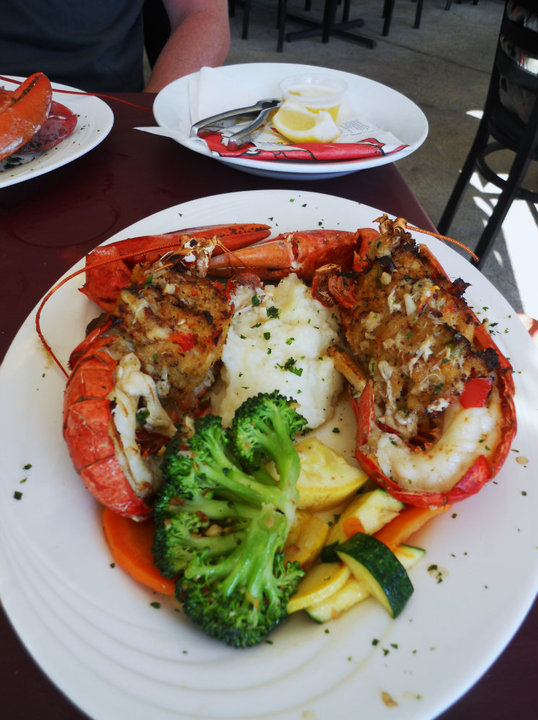 Crab Stuffed Lobster