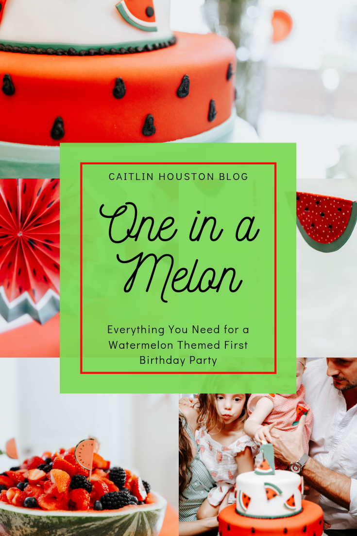 Fine Aileys One In A Melon First Birthday Party Caitlin Houston Funny Birthday Cards Online Necthendildamsfinfo