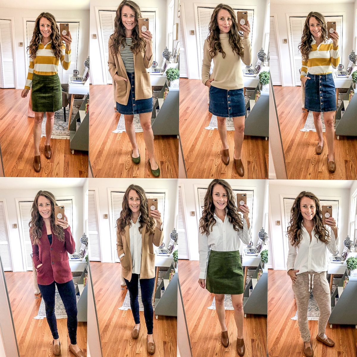 Fall Style 2019 | September Style Session with Jean Skirt, Corduroy Skirt, Sweater Blazer, and White Button Up