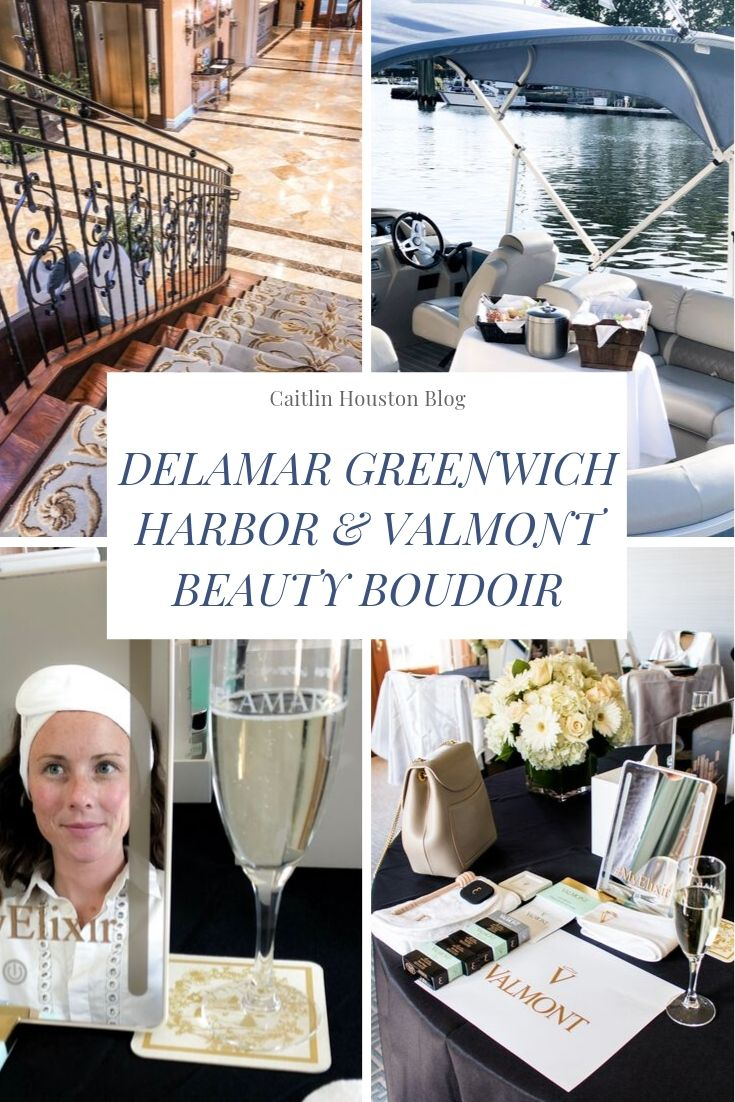 A Spa Getaway at the Delamar Greenwich Harbor with Valmont Cosmetics - Read about my 24 hour stay at the beautiful Delamar Greenwich Harbor and the Beauty Boudoir class with swiss based luxury beauty brand Valmont Cosmetics. We took an elegant sunset cruise around the Greenwich Harbor and dined at L'Escale Mediterranean Restaurant.