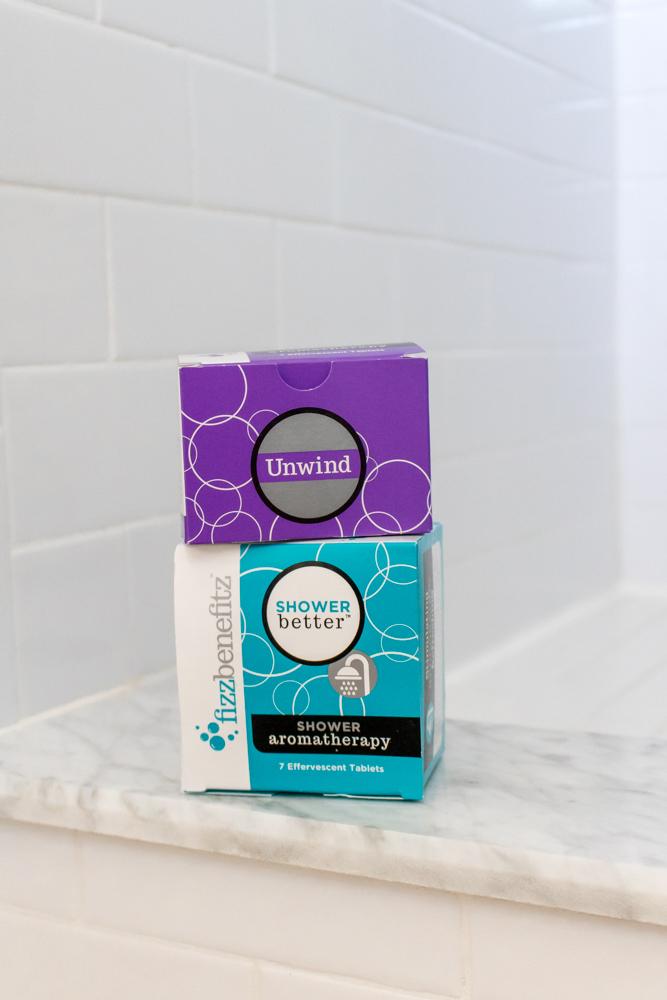 Shower Aromatherapy FizzBenefitz effervescent tablets