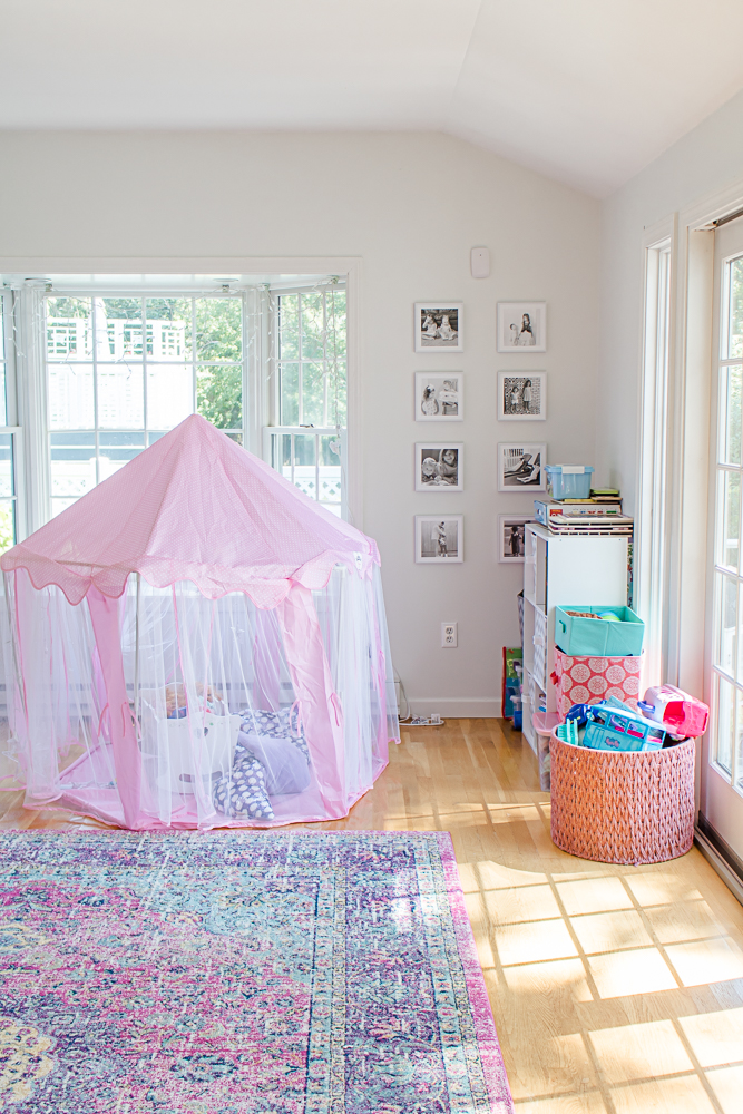 Pink Playroom with Kids Princess Tent