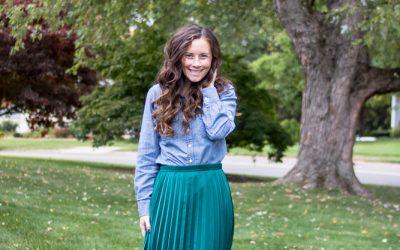 Chambray Shirt and Maxi Skirt