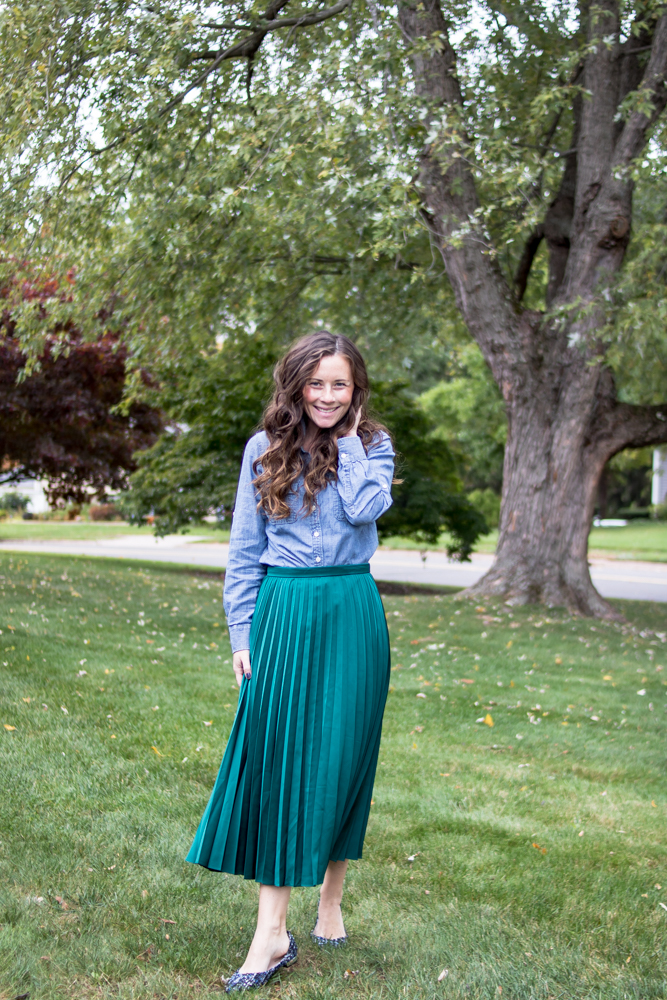 Chambray Shirt and Maxi Skirt