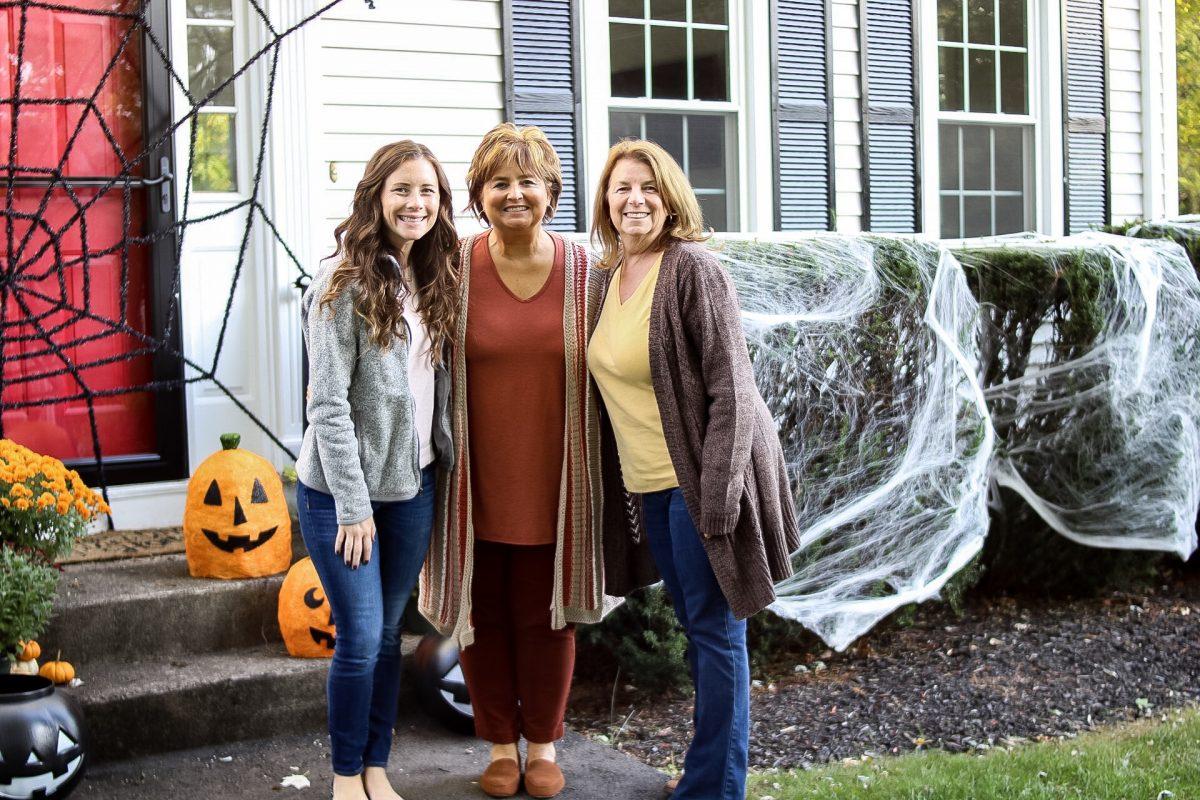 Weekend Recap Caitlin Houston - Fall Activities, Halloween Decorated Front Porch
