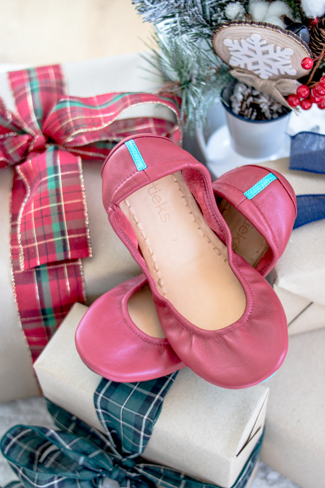 Tieks Ballet Flats in Cardinal Red for Christmas Gift