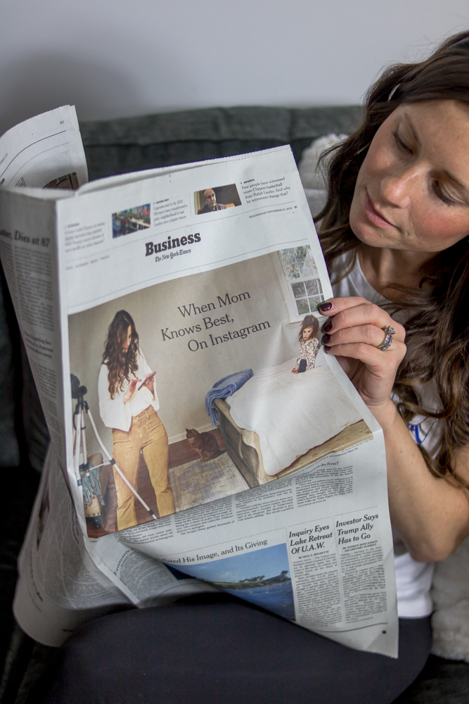Woman Reading the New York Times newspaper