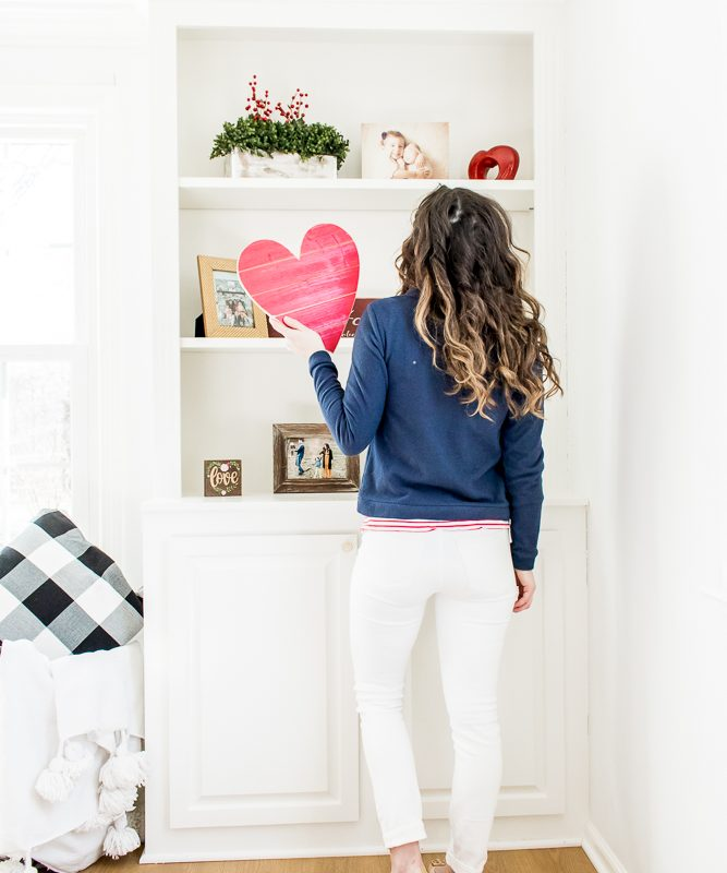 How to Decorate Your Home for Valentine's Day {and a Giveaway!}