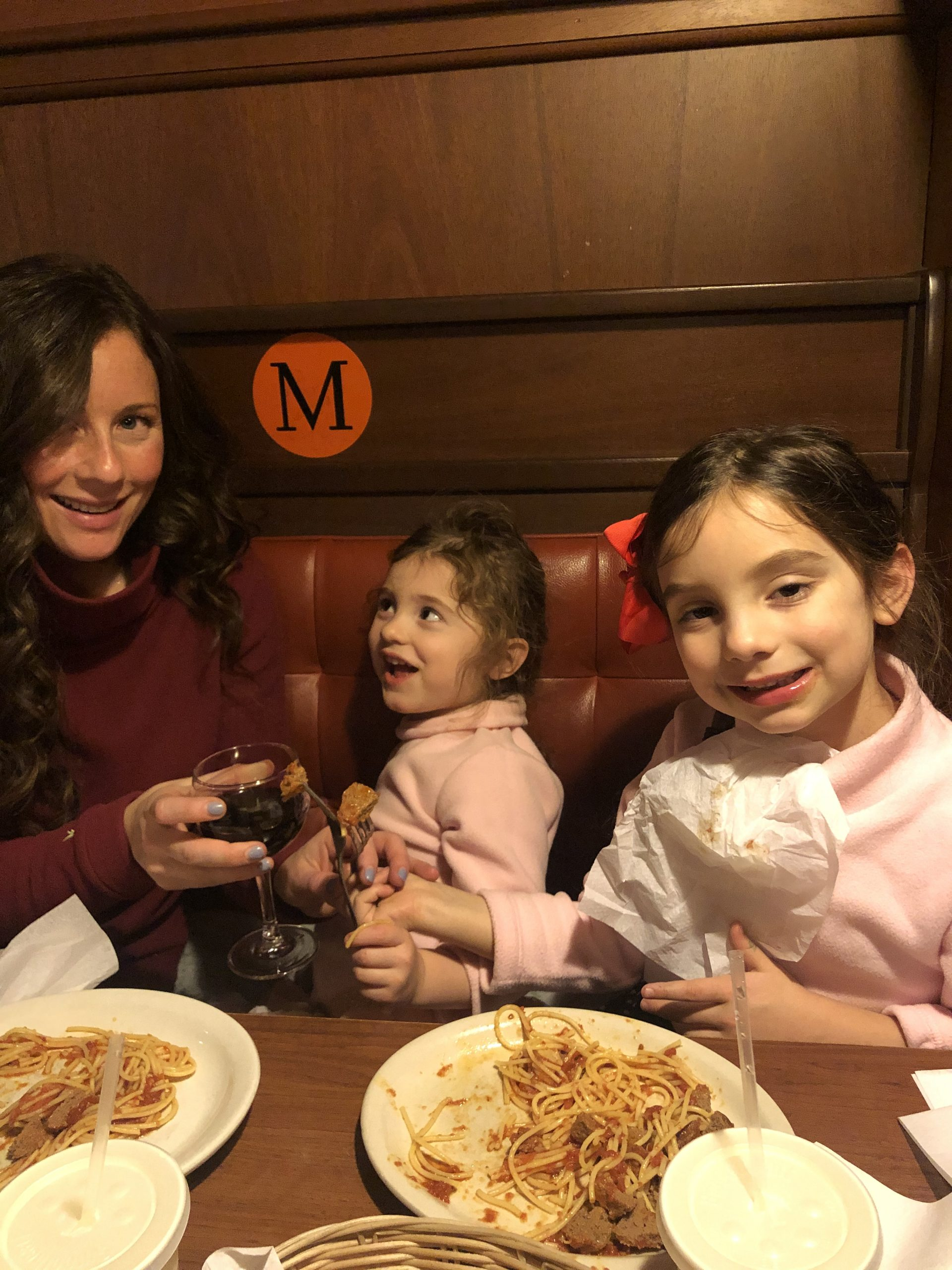 Mom and Daughters in Dudley Stephens at Modern Apizza