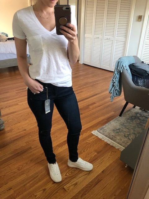 Madewell Whisper Tee and Jeggings