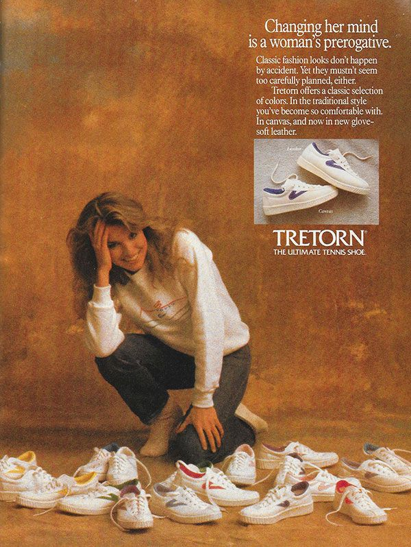 Tretorn Ad The Ultimate Tennis Shoe 1986