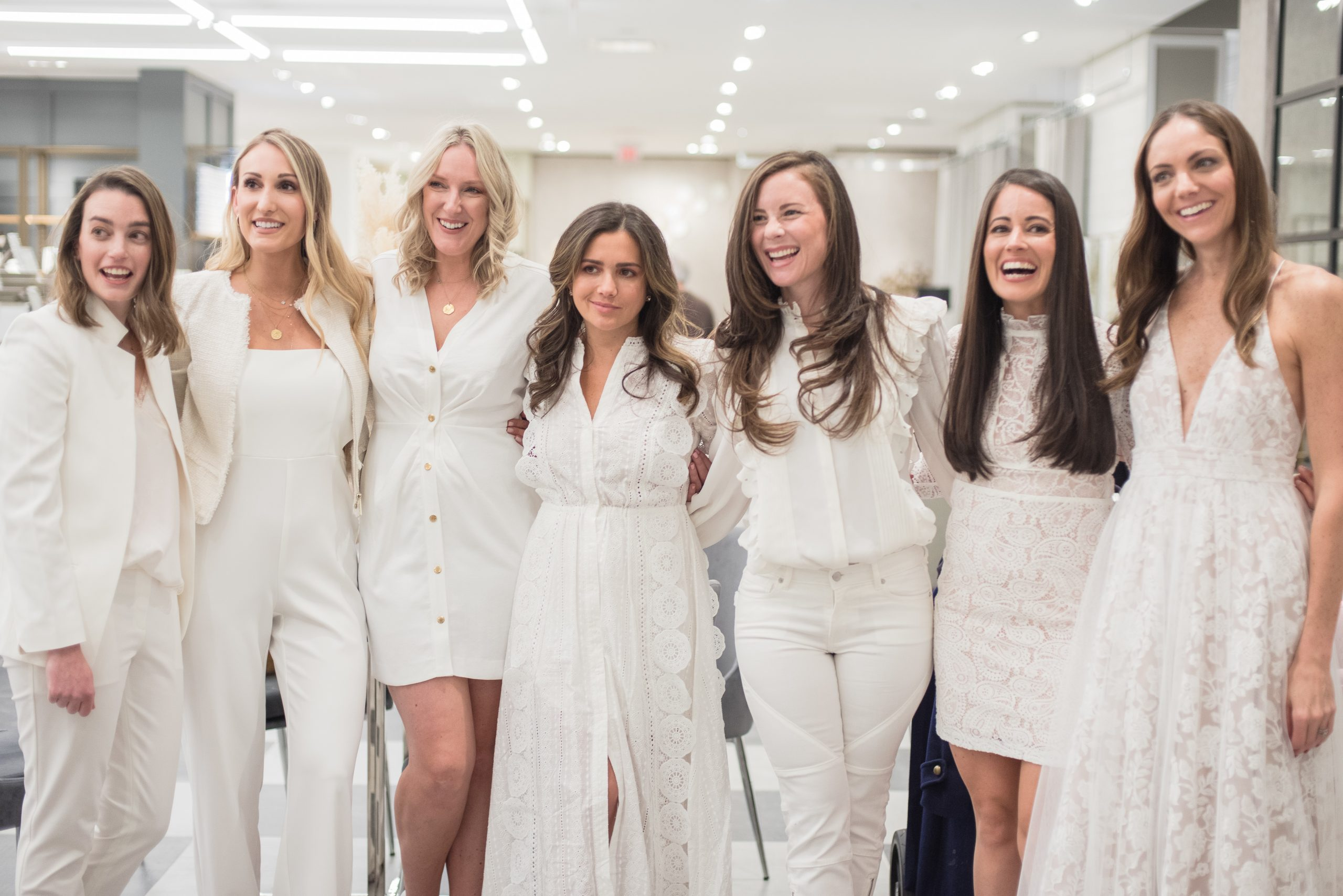 Connecticut Bloggers wearing White at Bridal Registry Event at Bloomingdales at the SONO Collection in South Norwalk