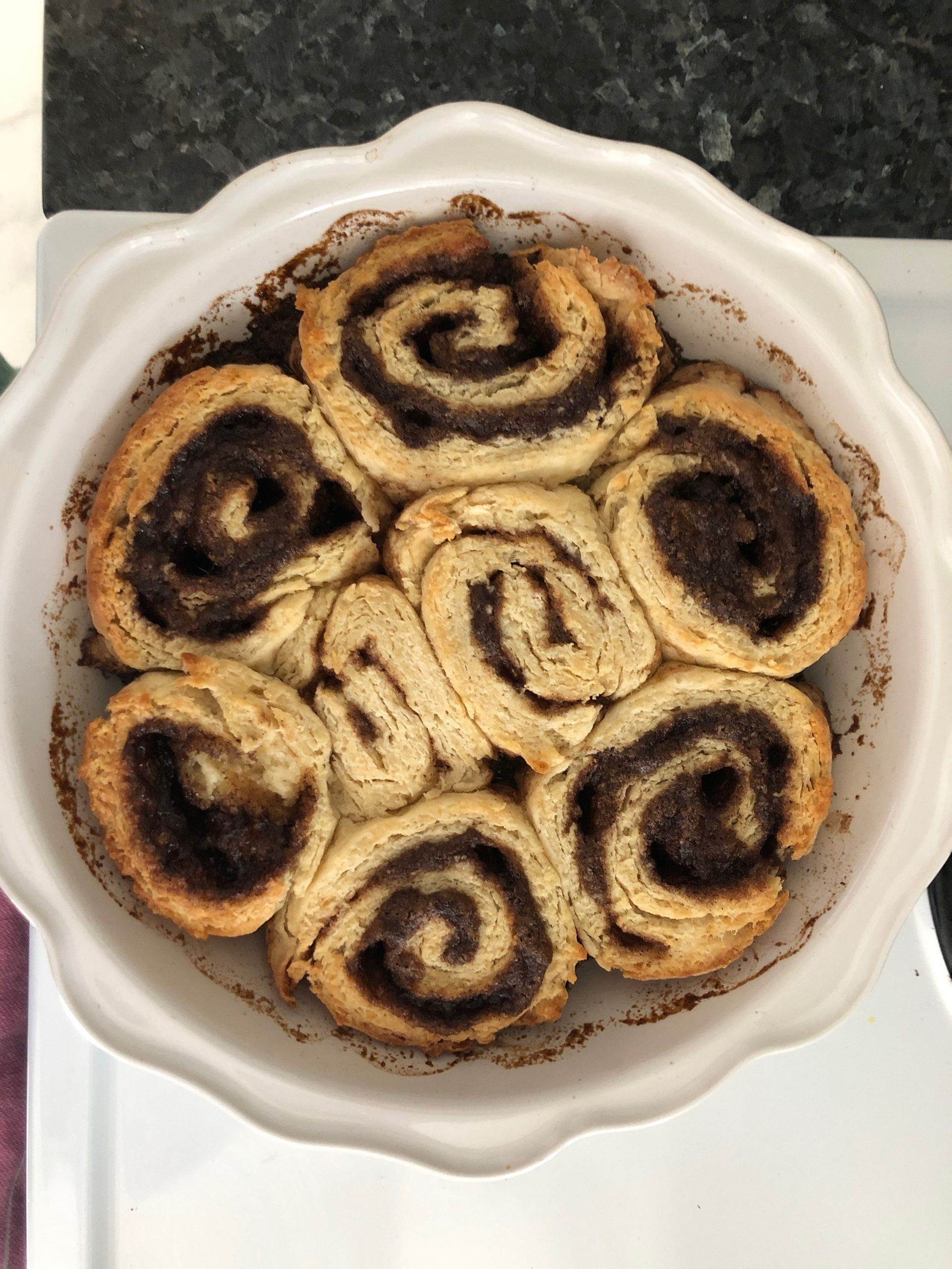 Yeast Free Cinnamon Rolls After Baking