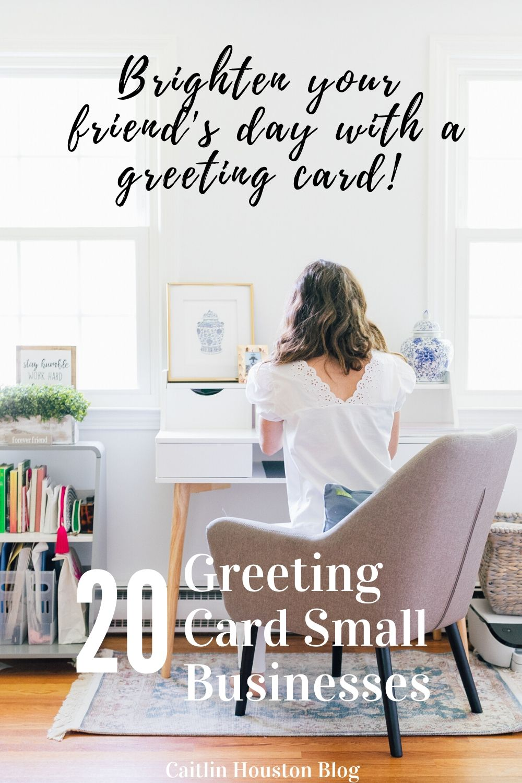 girl sitting at desk writing a greeting card