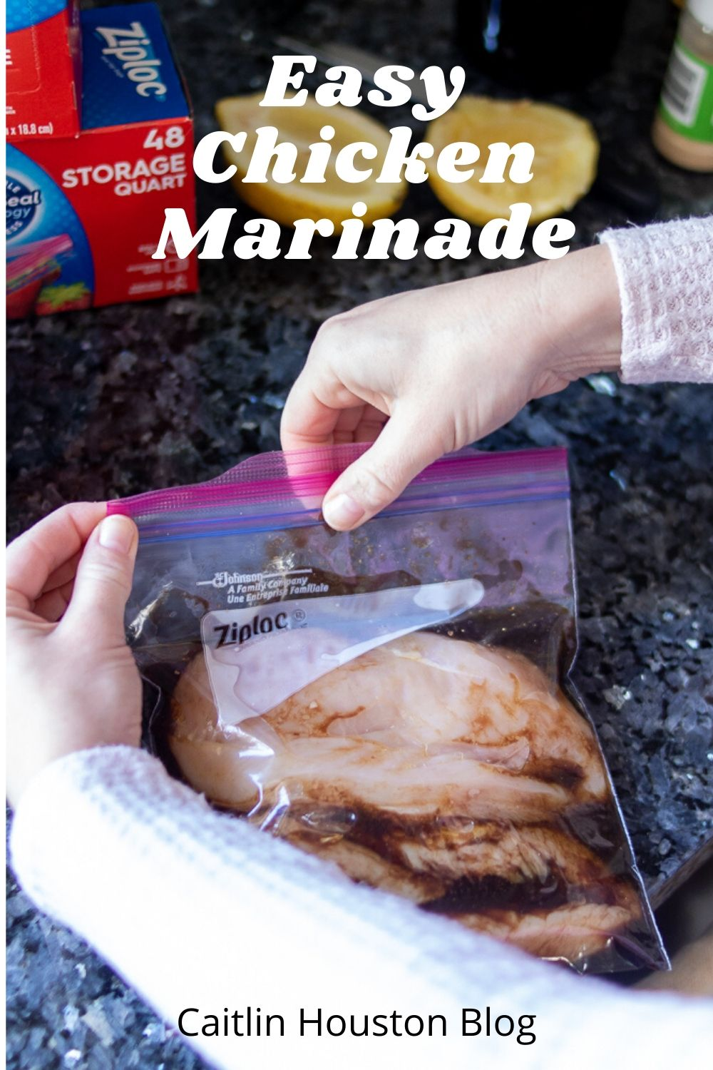 Chicken in a Marinade in a Ziploc Bag