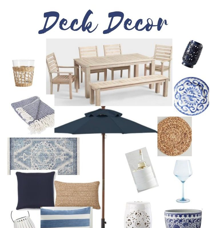 Blue and White Deck Decor
