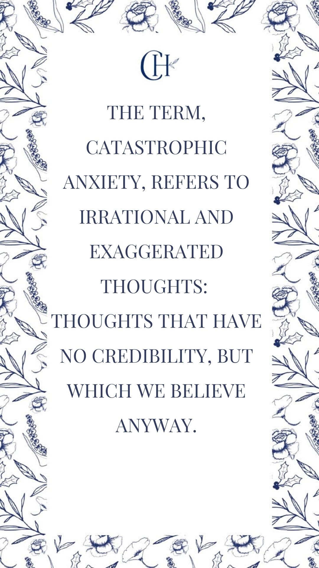 Anxiety and Catastrophic Thinking