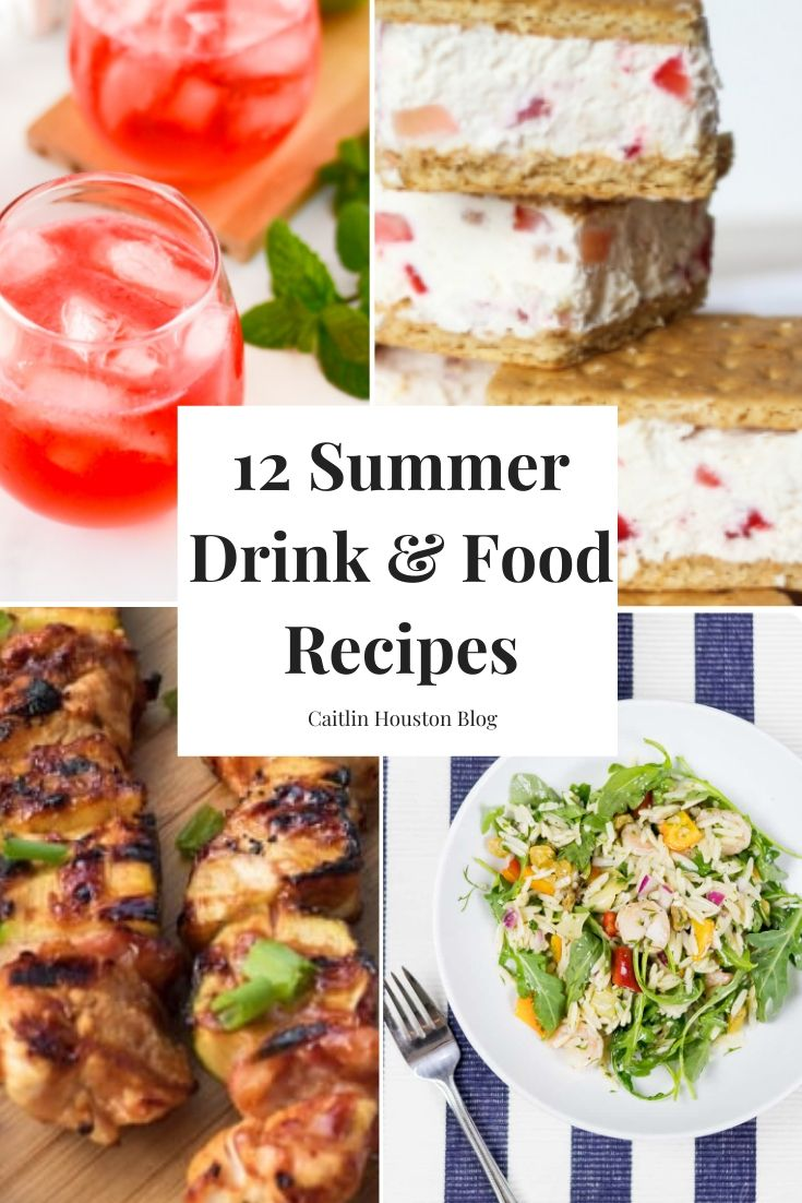 summer drink and food recipes