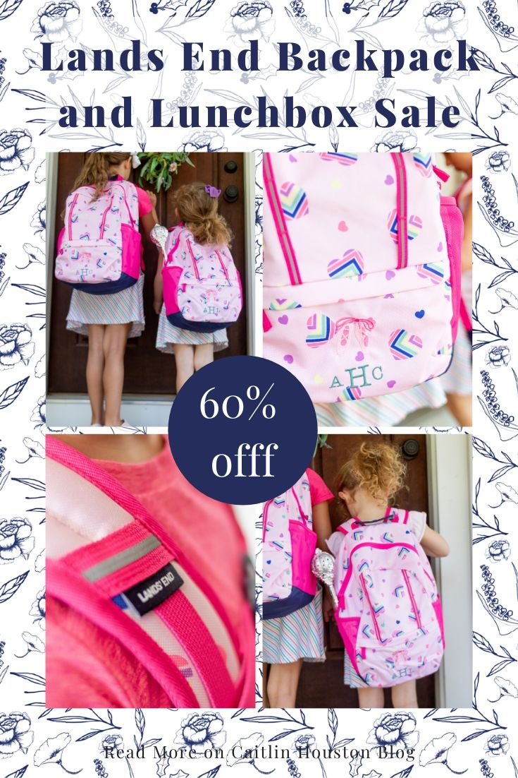Loving Lately - Lands End Backpack and Lunch Box Sale - 60% off - Kids backpacks in size small to extra large for children of all heights and sizes.